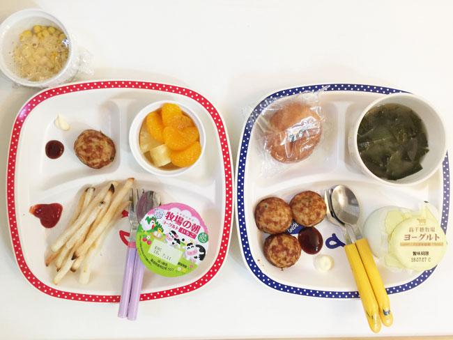 7月10日の子供の朝ご飯