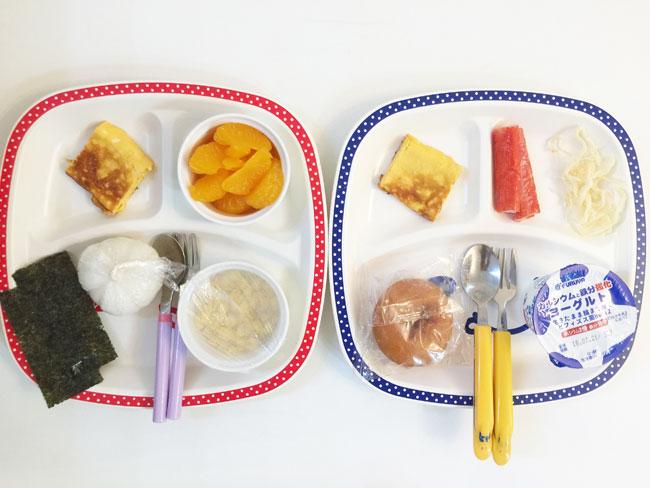7月12日の子供の朝ご飯