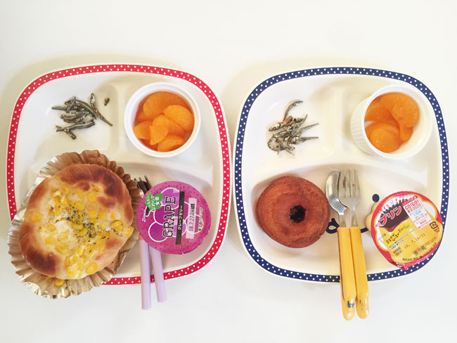 7月17日の子供の朝ご飯