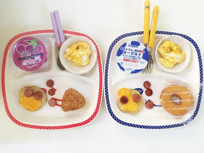7月18日の子供の朝ご飯