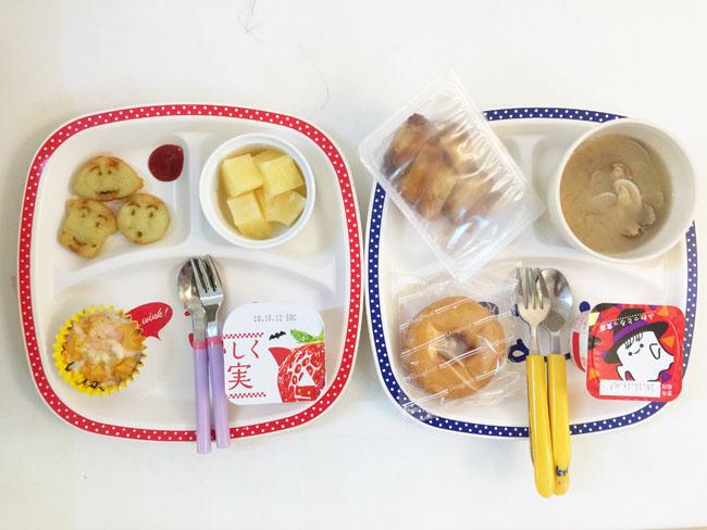 10月9日の子供の朝ご飯