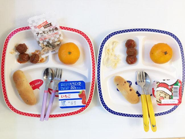 12月3日の子供の朝ご飯