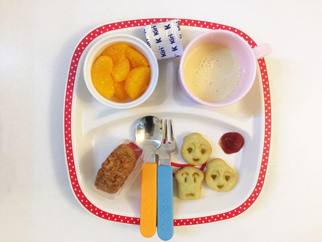 2019年1月8日(火)の子供の朝ご飯