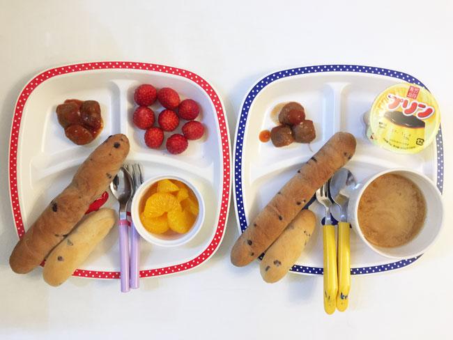 2019年1月10日(木)の子供の朝ご飯