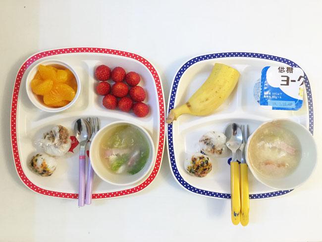 2019年1月11日(金)の子供の朝ご飯