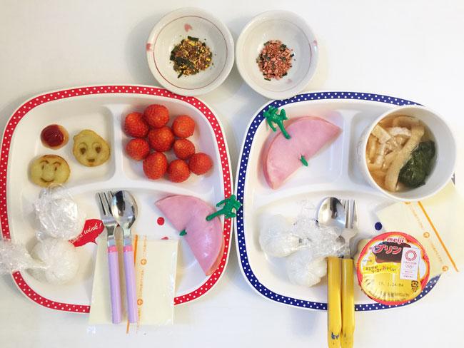 2019年1月22日(火)の子供の朝ご飯