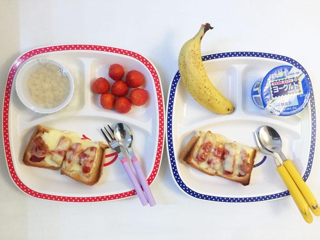 2019年1月23日(水)の子供の朝ご飯
