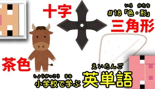 小学校で学ぶ英単語「色・形」編【#18】