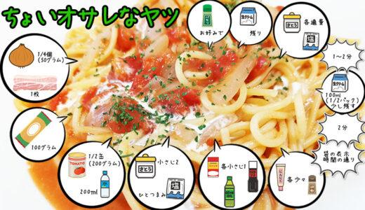 電子レンジで絶品トマトクリームパスタ!簡単なのに生クリームで贅沢感満載のレシピ!